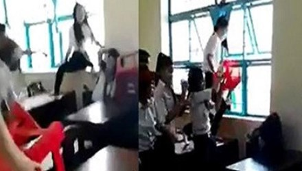 Tra Vinh Province's schoolgirl had a cerebral edema and deafening for a beating by classmates